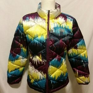 The North Face Multi Color Down Jacket Size L